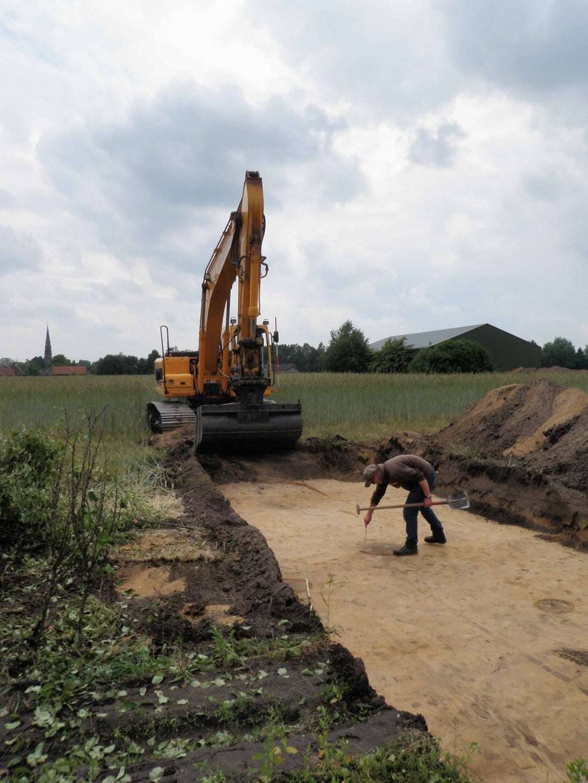 Inkrassen sporen archeologisch proefsleuven onderzoek VUhbs